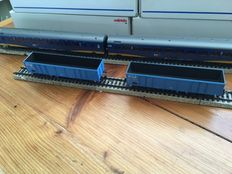 Marklin H0 - 4719/42641 - 2 open freight carriages and 2 passenger carriages IC+ of the NS