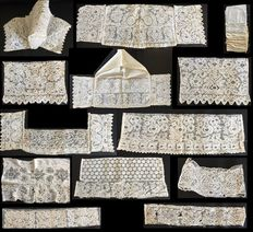Zuid-Beveland catholic top hats made of Brussels lace - The Netherlands (Zuid-Beveland, Zeeland) - First half of the 20th century