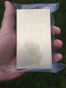 Brass bar - fine brass - Güldengossa Castle Edition - 1 kg / 1000 grams alternative investment metals