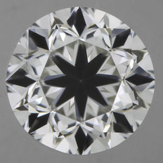 Brilliant cut, 0.50 ct, I-VS2.