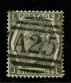 Great Britain 1872/1873 – Queen Victoria – 6 pence grey plate 12 Stanley Gibbons 125 A25 Malta