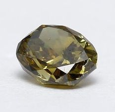 0.18 ct Natural Fancy Deep Yellowish Green Diamond no reserveprice