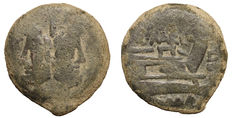 Roman republic - Q. Marcius Libo - AS - 148 BC. - 20,44 gr. - Scarce - Great pedigree - Janus Head