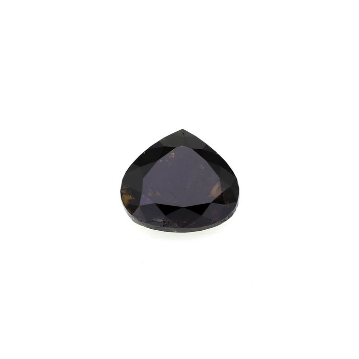 Natural Black color 5.44 Heart shape Diamond, IGI Certified