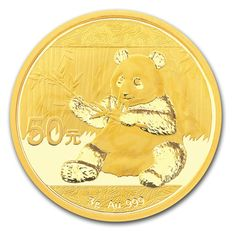 China - 50 Yuan 2017 'Panda' - 999 Gold / Goldmünze