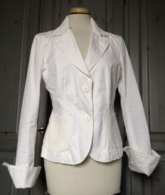 Emporio Armani by Giorgio Armani - Spring / Summer blazer - White with sequins - Made in Italy.