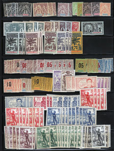 Dahomey, former French Colonies 1906/1937 - Old stock, collection almost complete with Air Post, tax - Yvert between n° 1 and 150