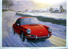 Art Print Exclusive Serie - Porsche 911 In Winter - Artist: Keith Woodcock