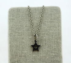 925/1000 -Pandora - Sterling Silver Ladies Necklace With Star Pendant, ca.2000. Length : 45 cm