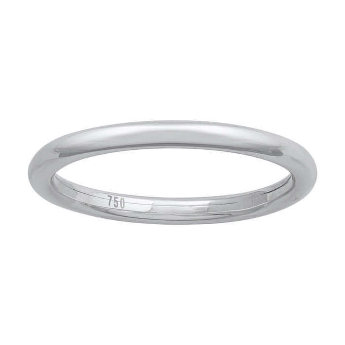 18kt white gold wedding band - 54 (EU)