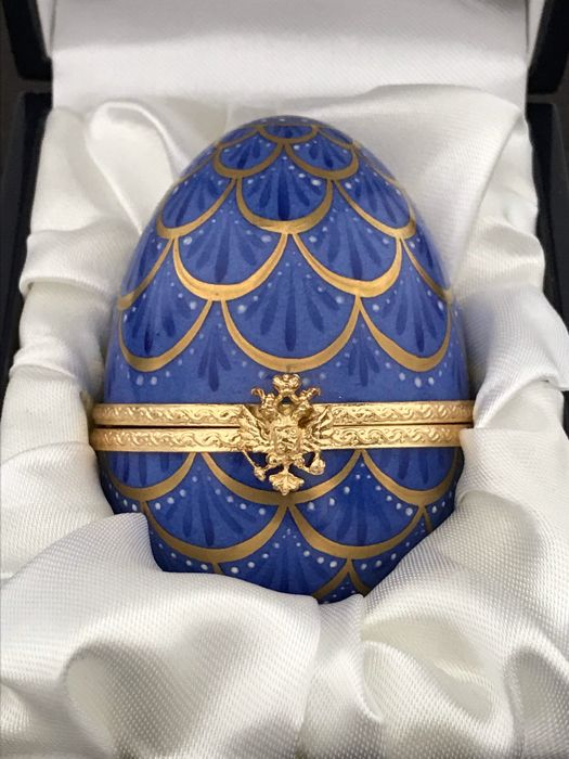 FABERGÉ- Fabergé egg collection Imperial-Serial number 165/250 24 carat gold. Completely (1) - Porcelain