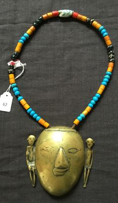 Necklace with head-hunter pendant, Nagaland