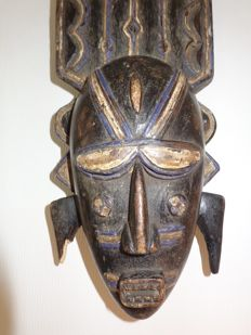 Ancient mask of the DO - LIGBI - Ivory Coast