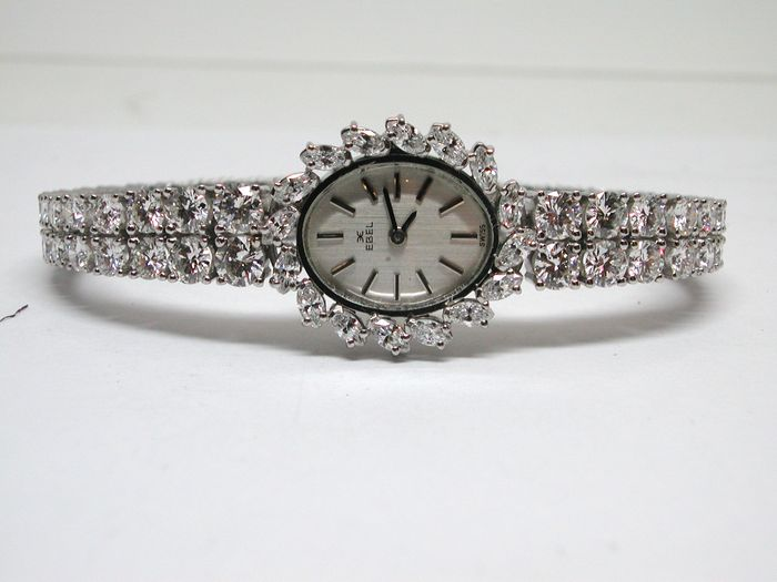 ebel diamond tennis bracelet and watch combo with 12 04ct of diamonds catawiki On diamond tennis bracelet watch