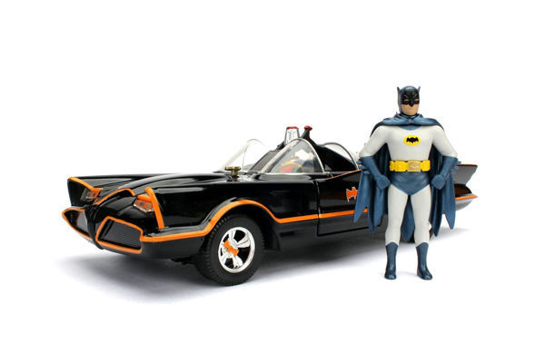 Batman - Jadatoys - 1:24 - Voertuig Classic TV - Batmobile model with Batman & Robin