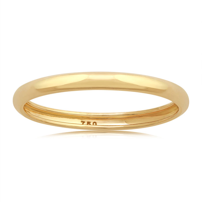 18k yellow gold wedding band - 54 (EU)