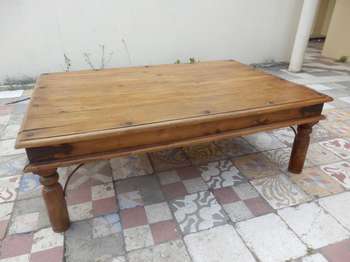 Indian Sheesham Large Wooden Coffee Table,1960´s  Catawiki