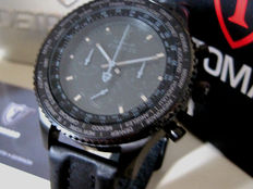 DETOMASO Firenze BLACK XXL-DT1045-D Chronograph Watch 10 ATM New
