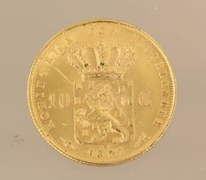 Netherlands - golden tenner 1897 - 6.72 grams of gold