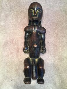 Very beautiful, high wooden reliquary figurine - FANG - Gabon