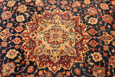 Fine Persian carpet, Sarough, 3.51 x 2.70 m, blue, hand-knotted, high-quality virgin wool, oriental carpet - TOP CONDITION