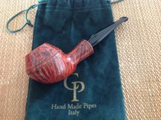 "New, unsmoked CP pipe, "" TROUT "", fancy bulldog shape, 9 mm filters, hand made, Italy !!"
