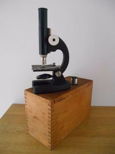 P. Waechter Wetzlar microscope in beautiful wooden box