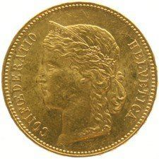 Zwitserland - 20 Francs 1895B  Crowned Head  - goud