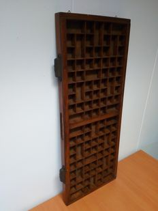 Beautiful antique Wooden Typecase, first half 20th century