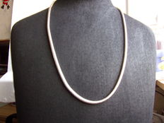 Sterling silver women´s necklace, length 60 cm