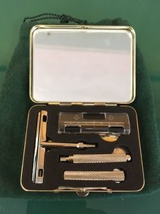 Silver razor set for Travel Boggiali 1898 Milano