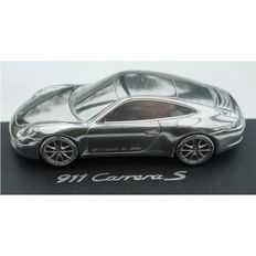 Porsche 911 991 Carrera S Dealer's Model. Limited Edition in solid aluminium - Scale 1/43