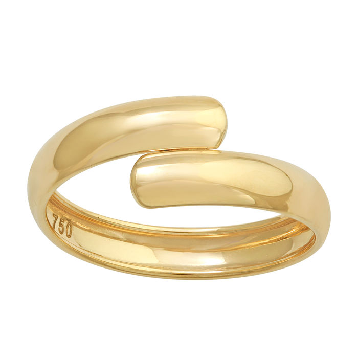 18k yellow gold cross-over wedding band - 54 (EU)