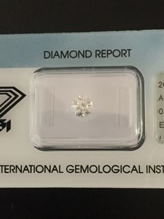 Brilliant cut diamond, 0.92 ct, E I.F