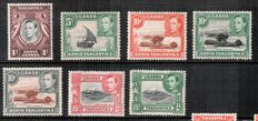 Kenya,Uganda and Tanganyika 1938/1960 - collection with some variant perforation.