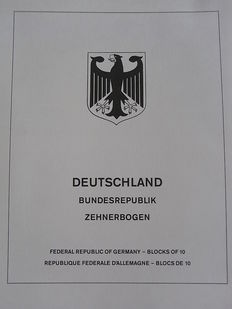 Acccesories - 6 x Lindner-T-Falzlos albums for sheets Federal Republic of Germany (1994/2000)