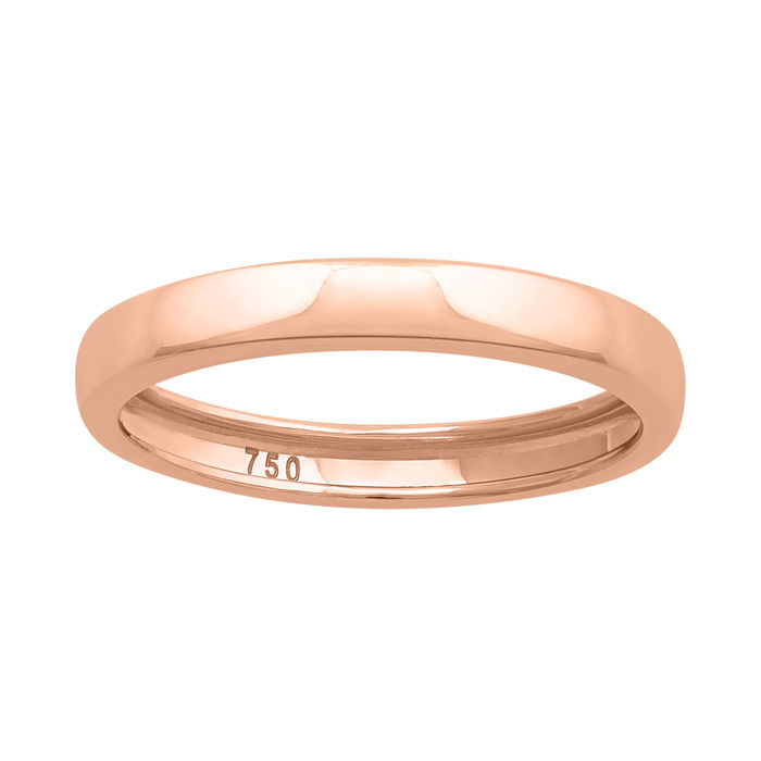 18k gold wedding band - 54 (EU)