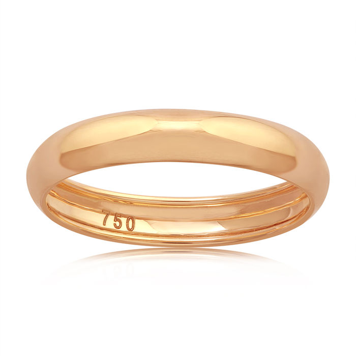 18k pink gold wedding band - 54 (EU)