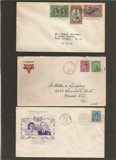 Canada 1939/2001 – Batch with over 300 different First Day Covers and postal value items.