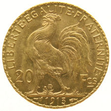 "France - 20 francs 1913, ""Marianne"" - gold"