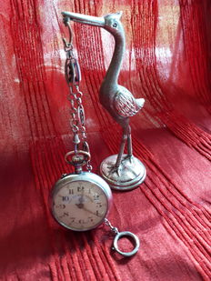 Gre Roskopf patent pocket watch, Swiss made with display, circa 1920