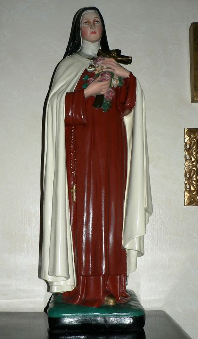 Big Saint's statue, plaster - Theresa of Lisieux - Flanders (BE) - 1st half 20th century.