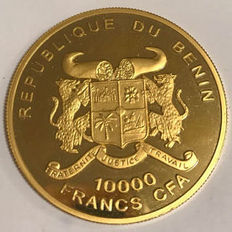 Benin – 10,000 fr 2002 (Introduction of Euro) – 1 oz gold