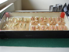 Anatomical models of teeth and molars, in wax 1944