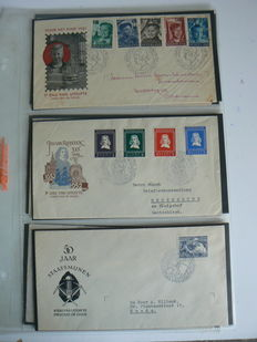 The Netherlands 1953/1954 - Small collection of FDCs - NVPH E6 through E17