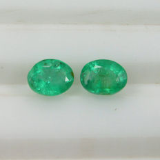 Emerald Pair - 1.45 Ct total - No reserve price