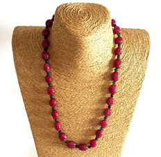 Emerald, Ruby and Sapphire beads necklace