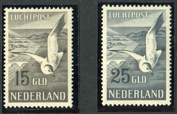 The Netherlands 1951 – Seagulls – NVPH LP12/LP13