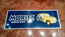 Advertising plate MORITZ - Embossed 70's