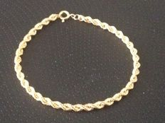 Gold (18 kt) bracelet for women - Length: 18 cm
